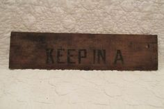 Vintage Wall Decor Part of a wooden Box Use your by rarefinds4u