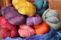Our new arrival Yuri is a bouncy and soft superwash merino blend with some seriously entrancing semi-solid colorways...