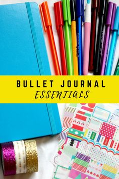 BULLET JOURNAL ESSENTIALS | BUJO #1 | Georgia - here you will find all the essentials you need to start a bullet journal including pens, washi tape and stickers