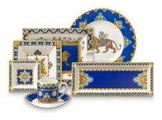 #CobaltBlue dinnerware set   Samarkand collection