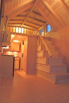 House Interior Stairs Tiny Homes Ideas For 2019 Tiny Cabins, Tiny House Cabin, Cabins And Cottages, Tiny House Living, Tiny House Design, Small House Plans, Modern House Plans, Shed Homes, Tiny Homes
