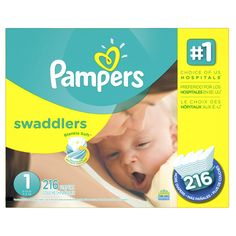 Pampers Swaddlers Disposable Diapers Newborn Size 1 lb), 148 Count, GIANT (Packaging May Vary) - Baby Baby Cost, Diaper Brands, Newborn Diapers, Diaper Sizes, Mega Pack, Thing 1, Disposable Diapers, Packaging, Baby Registry