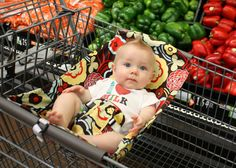 Shopping Cart hammock COMING SOON from Binx Baby…so much better than putting the whole infant carrier in the shopping cart, which is very dangerous!