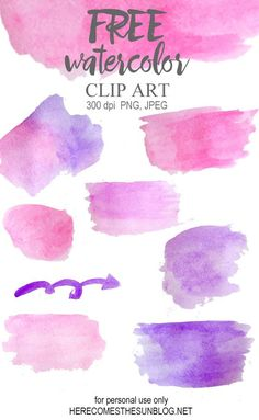 This gorgeous watercolor clip art is perfect for creating invitations or digital prints.