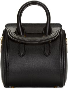 85b9dcb8be3 Alexander Mcqueen Black Leather Mini Heroine Bag in Black Bag Closet,  Alexander Mcqueen Clothing,