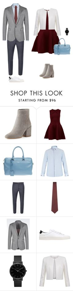 """date look5"" by yuri-writer on Polyvore featuring Sam Edelman, Ted Baker, Yves Saint Laurent, Valentino, Alexander McQueen, Lanvin, Emporio Armani, Common Projects, men's fashion and menswear"