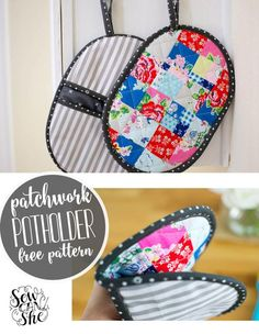 Patchwork Potholder with Pockets! Free Pattern | Craftsy