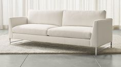 Genesis Sofa with Brushed Stainless Steel Base | Crate and Barrel