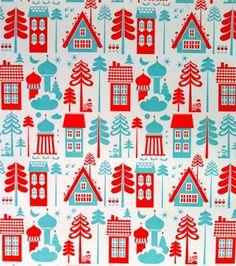 More Scandinavian Wallpaper! Tingleby Red/Turquoise Wallpaper