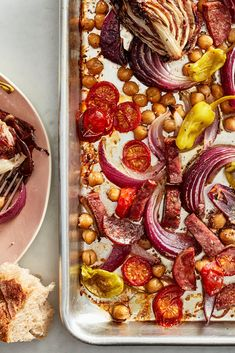 Sheet-Pan Italian Sub Dinner Recipe Italian Sub, Sheet Pan Suppers, Sweet And Spicy, One Pot Meals, Food To Make, Dinner Recipes, Dinner Ideas, Food And Drink, Cooking Recipes