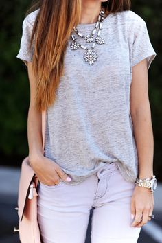 Merrick's Art // Style + Sewing for the Everyday Girl: 3 WAYS TO STYLE A BASIC GRAY TEE
