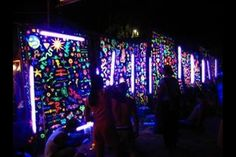 Cool mural for neon bday decor.  Have kids sign there names ahead.