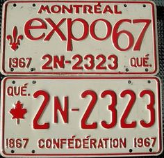Montreal Expo 67 License Plate by Suko's License Plates, via Flickr Expo 67 Montreal, Montreal Ville, Montreal Quebec, Quebec City, 50th Birthday Themes, Capital Of Canada, Canadian Things, Nostalgia, Canada Eh