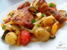 Put everything in a casserole dish, you do not have to worry about more. The simple … - Healthy Recipes! Cooking Recipes, Healthy Recipes, Hungarian Recipes, Savoury Dishes, Casserole Dishes, Tandoori Chicken, Food To Make, Chicken Recipes, Food And Drink