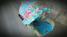 Baby Girl Infant car seat cover-beautiful pinks by BABYCOVERS2010