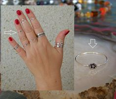 925 Sterling Silver, Star ring 1mm Band Midi Ring Above Knuckle Ring. http://stores.ebay.ie/SilverTrend4U?_rdc=1