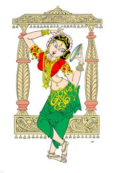 ANUSHA'S COLLECTION: December 2011 Indian Traditional Paintings, Indian Art Paintings, Art Sketches, Art Drawings, Tanjore Painting, Kalamkari Painting, Indian Illustration, India Painting, Madhubani Art
