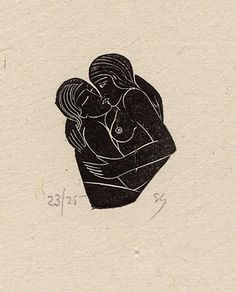 Lovers by Eric Gill (1920). I would kill for a signed print of this.