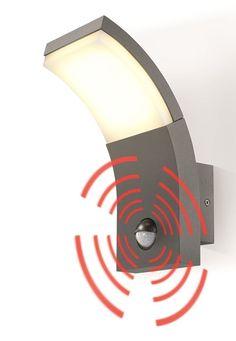 LED Design Wandleuchte SlimLine mit Bewegungsmelder warmweiss  230 V   201150
