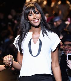 3 Bang-Styling Secrets From Naomi Campbell's Hairstylist via @ByrdieBeauty