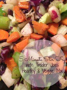 5 Minute Stir Fry #traderjoes #healthy #easyrecipe