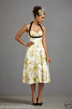 Anthropologie BHLDN Calendar Girl Dress by Hitherto Retro Style Sz 8