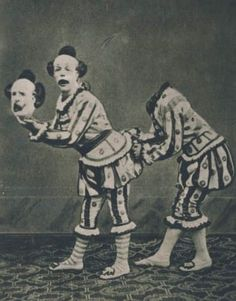 Vintage Creepy Circus Sideshow Clown Freaks