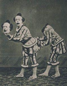 Vintage Creepy Circus Sideshow Clown Freaks