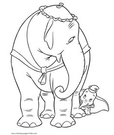 Dumbo color page, disney coloring pages, color plate, coloring sheet,printable coloring picture