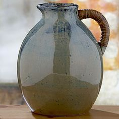 Blue & brown reactive glaze pitcher $24.99