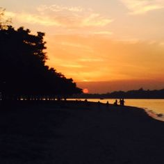 The Awesome Sunset at Changi Beach Park-Singapore
