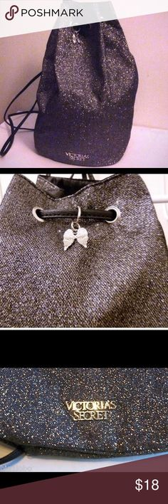 """Victoria's Secret Glitter Drawstring Bag I have two of these glitter bags. No pockets inside. In """"like new"""" condition..only used a couple times each. No outside or inside wear/tear damage. Everything is intact. Victoria's Secret Bags Shoulder Bags"""