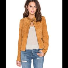 ✨HPx6✨ SANCTUARY suede motto jacket Beautiful real suede moto jacket. Color is called light maple. Zip front closure. Shoulder epaulettes. Front zipper pockets. Button tabbed hem. Zippered sleeves. Self 100% genuine leather. Lining 100% polyester. TTS. New with sanctuary tag. I purchased this jacket with no actual scanning price tag (we scanned another jacket at checkout) but it has the sanctuary tag attached. It has never been worn. Leather dry clean only. Sanctuary Jackets & Coats