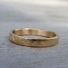 Recycled 14k Yellow Gold Wedding Band Made to by mcfarlanddesigns, $388.00