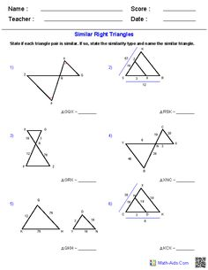 Similar-right-triangles-worksheet- & Similar Right Triangles ...