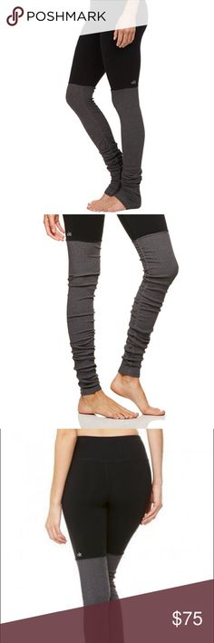 ALO Goddess leggings in black/stormy heather EUC Alo Goddess leggings in black & heathers gray. Size small. ALO Yoga Pants Leggings