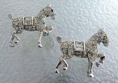 Vintage Crown Trifari Rhinestone Prancing Pony by thejewelseeker, $50.00