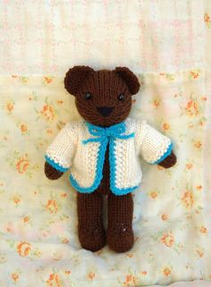 a cute and simple teddy bear pattern finished toy is 7 8 tall