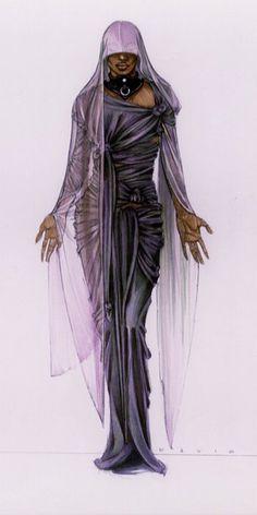 "Costume design illustration for ""SYBIL"""