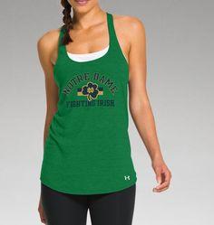 7bb61706fa469 Women s Notre Dame UA Racer Tank Athletic Gear