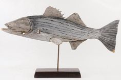Lot: EARLY FISH WEATHERVANE, Lot Number: 0633, Starting Bid: $250, Auctioneer: Thomaston Place Auction Galleries, Auction: Fall Auction Weekend - Day 2, Date: November 18th, 2017 EST