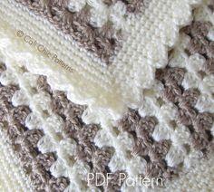 Crochet Baby Blanket PATTERN 58 Teddy Bear di CaliChicPatterns