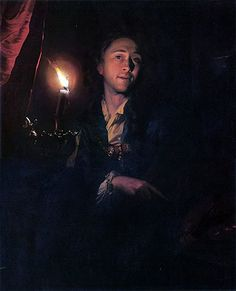 Joseph Wright of Derby, self-portrait by candelight