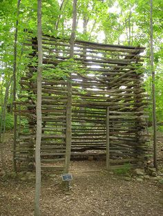 meditation space. DIY Gazebo / pergola great idea| I think I could do this... There's soooo many branches laying on the ground by me!