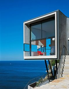 Cliff house - I'd love to see the rest of this house; it's on the water, so it's perfect.
