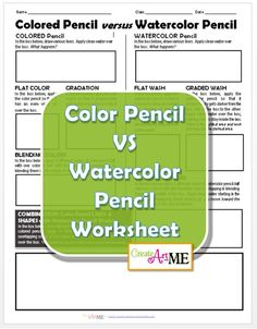 Colored Pencil versus Watercolor Pencil Worksheet