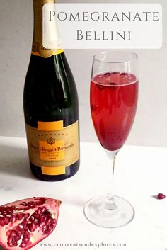 Pomegranate Bellini by Emma Eats & Explores - Grain-Free, Gluten-Free, Refined Sugar-Free, Dairy-Free, Paleo & SCD