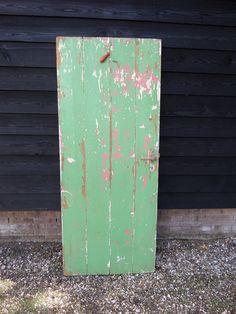 Brocante deuren hout groene deuren decoratie vintage en retro look deur