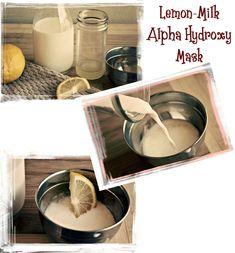 Lemon-Milk natural AHA Face mask