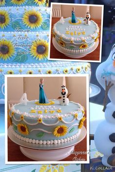 Frozen Fever Cake Replica of Annas birthday cake in Frozen Fever